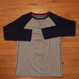 Petitlin Gray & Black Long Sleeve Top Size Medium